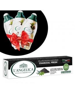 L'ANGELICA Зубна паста «Detox з деревним вугіллям» 75 мл + подарунок!