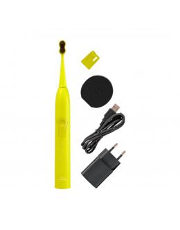 MEGASMILE Звукова гідроактивна зубна щітка «Black Whitening ІІ» Electric Yellow