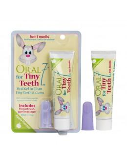 """Oral7  Детский набор """"Хеппи малыш"""" Зубная паста-гель и щетка на палец,  с 3 месяцев"""