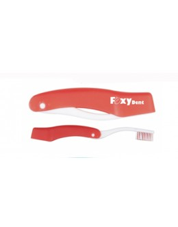 Дорожная зубная щетка FoxyDent Total средней жесткости (красная)