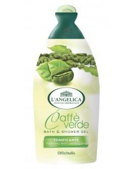 Тонизирующий гель L'Angelica для душа и ванны с зеленым кофе