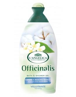 L'ANGELICA Гель для душа и ванны «Бархатный» с белым мускусом и хлопком 500 мл
