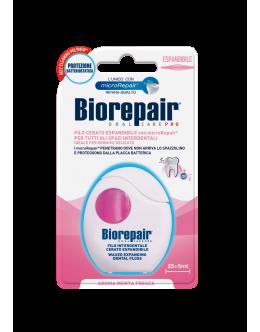 Biorepair Расширяющая зубная нить-флосс «Защита десен» с гидроксиапатитом и гиалуроновой кислотой, 30 м