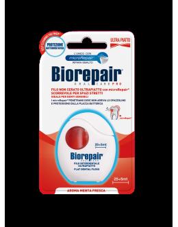 """Biorepair  Зубна стрічка-флос """"Позбавлення від чутливості"""" з гідроксиапатитом і цинком РСА, 30 м"""
