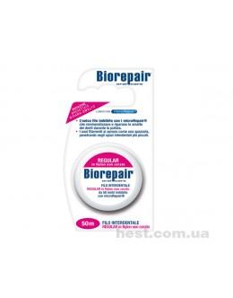 Зубная лента - флосс BioRepair  с гидроксиапатитом  (жидкой эмалью) 50м