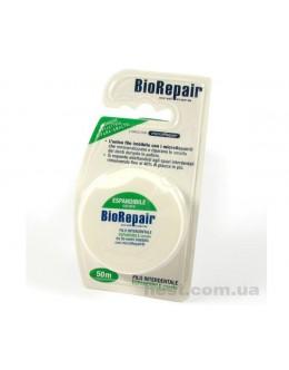 Расширяющийся флосс BioRepair с гидроксиапатитом (жидкой эмалью ) 40м